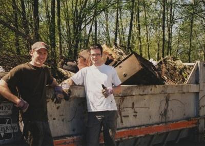 Crew ravine clean up