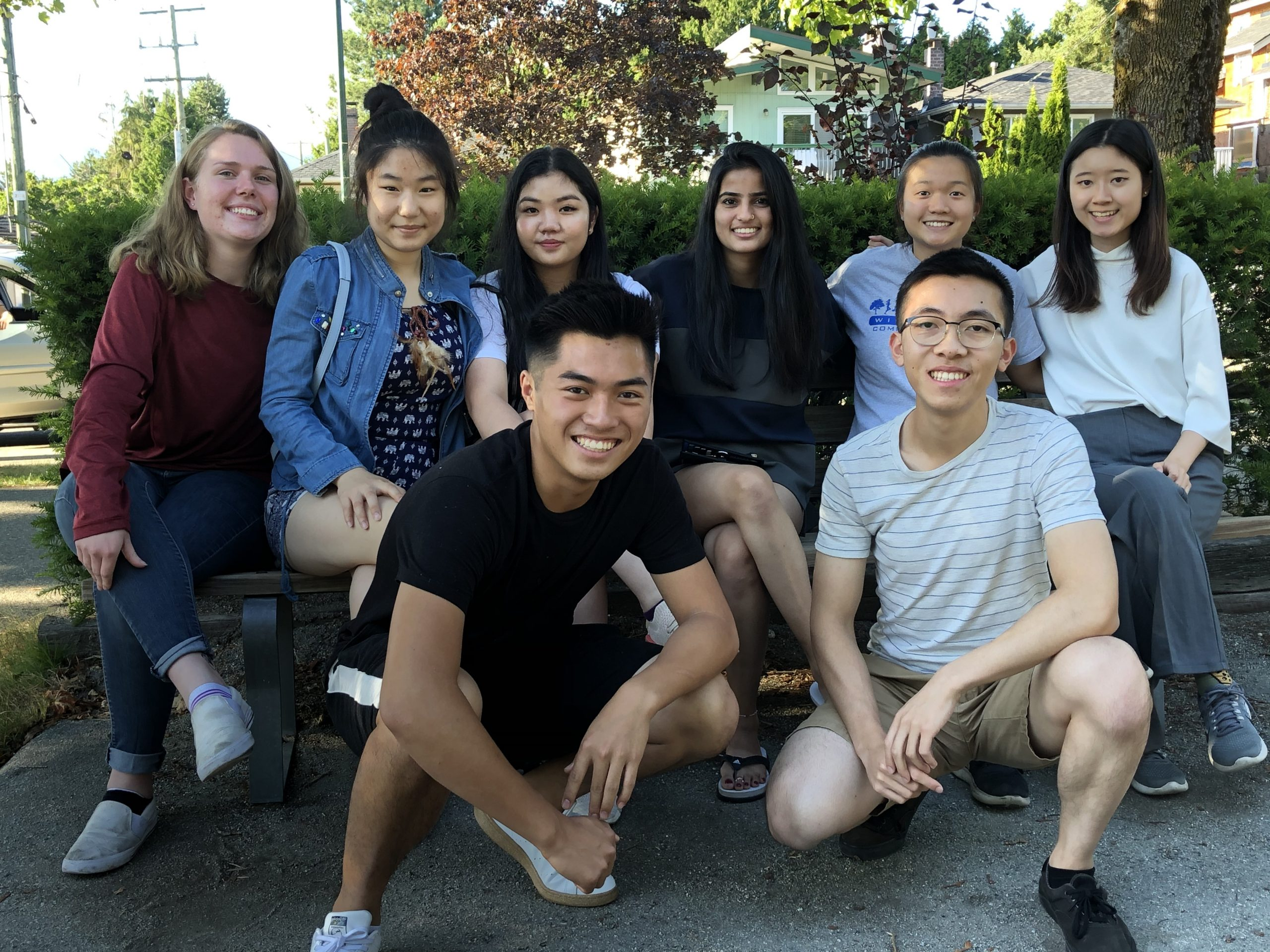 (Clockwise from top left) Daisy Martin-Moore, Maggie Fong, Kim Ho, Jasmine Garcha, Janette Chen, Katie Wan, Angus Ho, Anson Chow