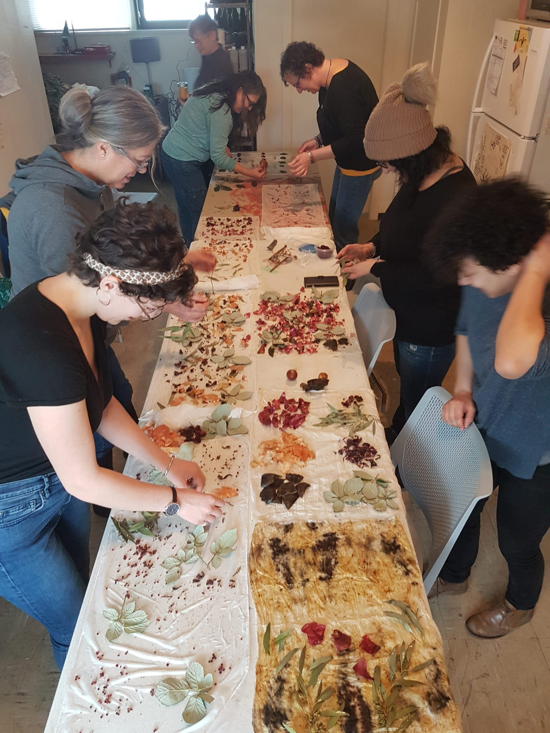 Bundle Dye Workshop (Feb 2019) - Photo by Bea Miller