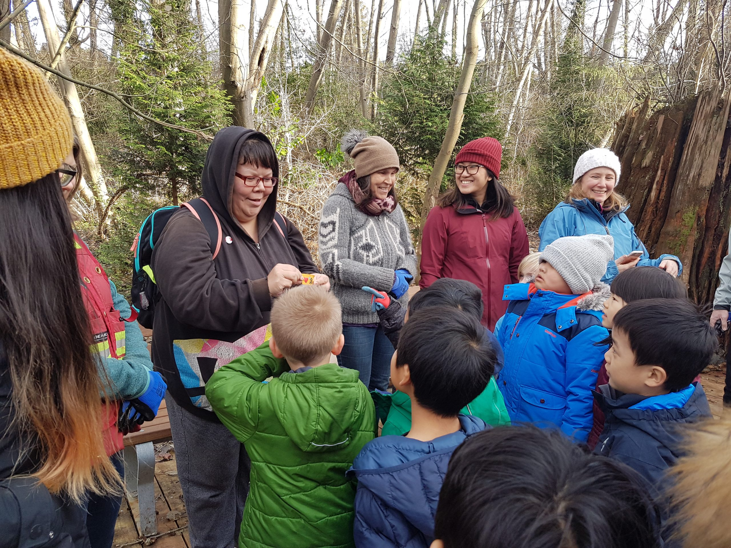 Planting with Norquay Elementary Students & Resurfacing History (Dec 2018) - Photo by Bea Miller