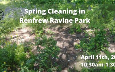 Spring Cleaning in Renfrew Ravine Park