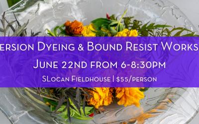 Immersion Dyeing & Bound Resist Workshop