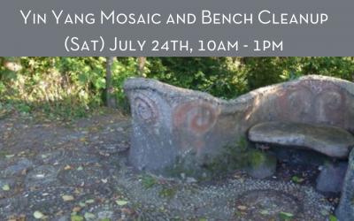 Yin Yang Mosaic and Bench Cleanup
